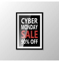 Cyber monday sale banner isolated on white vector image