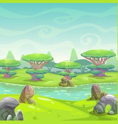 fantasy nature landscape vector image vector image