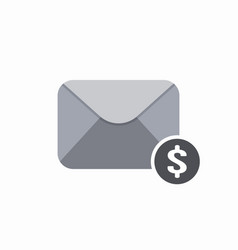 bill dollar email envelope mail money pay icon vector image