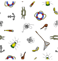 colorful seamless pattern in doodle stylehand vector image