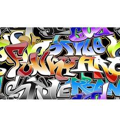 Graffiti urban background seamless vector