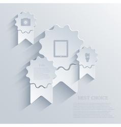 modern arrow riibbon background Eps 10 vector image vector image