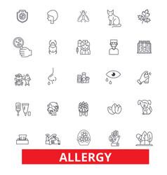 allergy food season desease sneeze pollen vector image