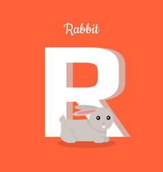 animals alphabet letter - r vector image
