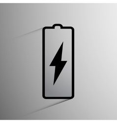 battery icon background vector image