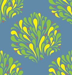 Pattern stylized leaves and splashing water vector