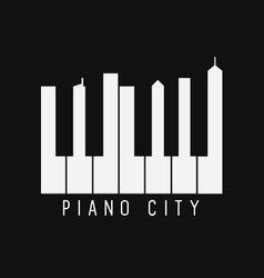 Piano City vector image