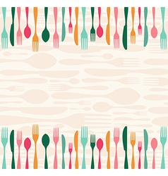 Silverware seamless pattern vector image vector image