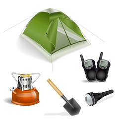 tourist objects vector image