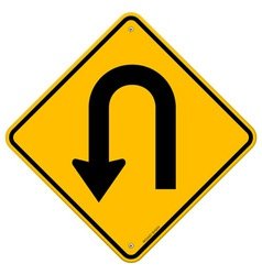 U-Turn Roadsign vector image vector image