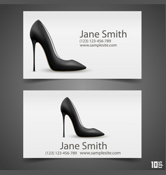 womens shoe business card vector image vector image