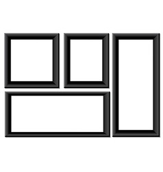Black picture frames vector image vector image