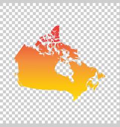 canada map colorful orange vector image