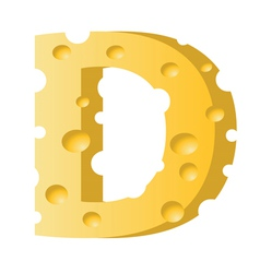 cheese letter D vector image vector image