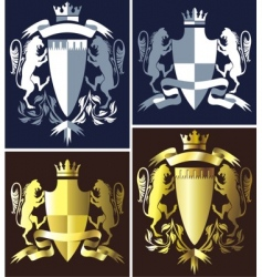 coat of arms heraldry vector image vector image