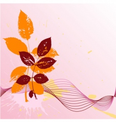 decorative waves background vector image vector image