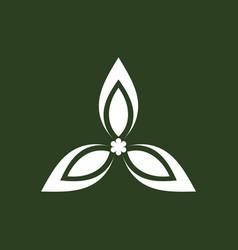 green triangle logo vector image vector image