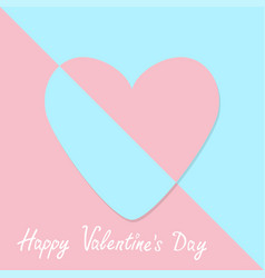 happy valentines day sign symbol pink paper heart vector image vector image