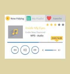 Music player 18 vector image