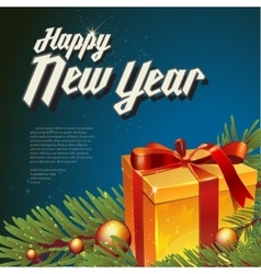 with new year lettering vector image