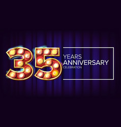 35 years anniversary banner thirty-five vector