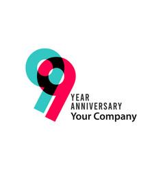 99 year anniversary template design vector