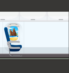 a seat on the airplane vector image