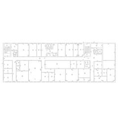 Architecture plan and blueprint monochrome vector