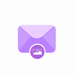 Attachment email envelope image mail photo icon vector