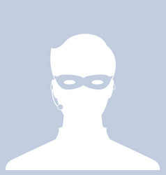 avatar head profile silhouette call center thief vector image