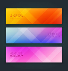 Beautiful minimal set of banners in three vector