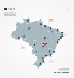 Brazil infographic map vector