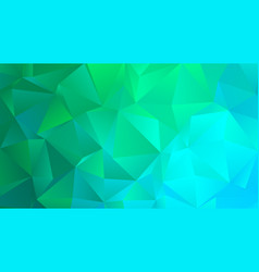 bright turquoise trendy low poly backdrop design vector image