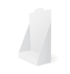 Cardboard pos display vector