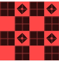 Chessboard Red Background vector image vector image