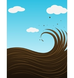 Chocolate wave background vector image