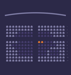Cinema seats booking online ui design scheme vector