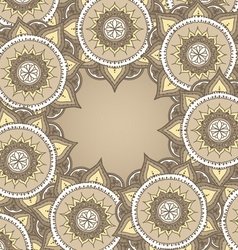 Circular Floral Ornament Template For Tattoo or vector