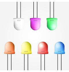 colored diode vector image