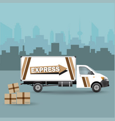 commercial vehicle vector image