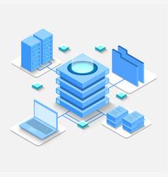 computation big data center information vector image