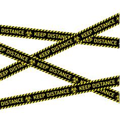 coronavirus quarantine warning type strips vector image
