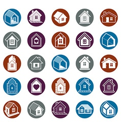 Cottages collection real estate and construction vector
