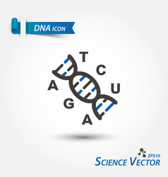 Dna icon deoxyribonucleic acid scientific vector