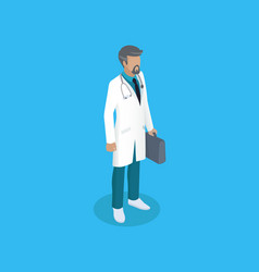 doctor in uniform working concept icon vector image