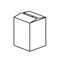 Figure box closed icon vector