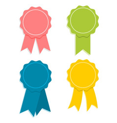 flate design award ribbon set vector image