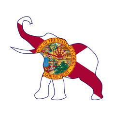 Florida republican elephant flag vector