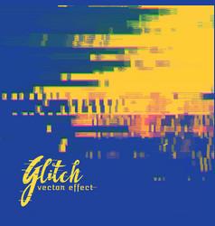 Glitch signal error background in duotone colors vector