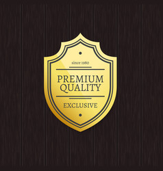 great choice premium quality gold label with text vector image